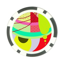 Colorful abstraction by Moma Poker Chip Card Guards (10 pack)