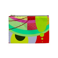 Colorful abstraction by Moma Cosmetic Bag (Medium)