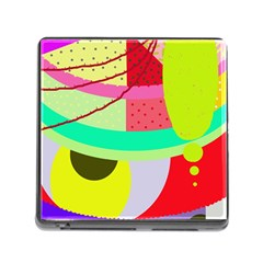 Colorful abstraction by Moma Memory Card Reader (Square)
