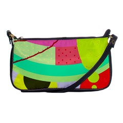 Colorful abstraction by Moma Shoulder Clutch Bags