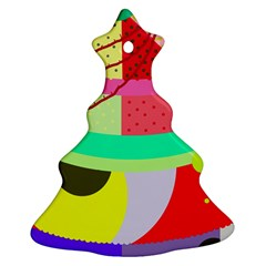 Colorful abstraction by Moma Christmas Tree Ornament (2 Sides)