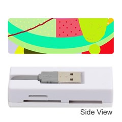 Colorful abstraction by Moma Memory Card Reader (Stick)