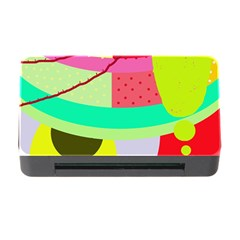 Colorful abstraction by Moma Memory Card Reader with CF
