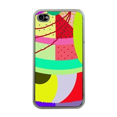 Colorful abstraction by Moma Apple iPhone 4 Case (Clear)