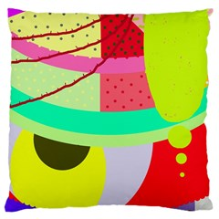 Colorful abstraction by Moma Large Cushion Case (One Side)