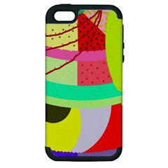 Colorful abstraction by Moma Apple iPhone 5 Hardshell Case (PC+Silicone)