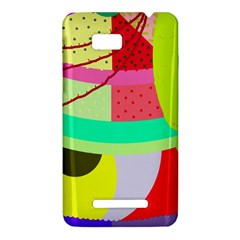 Colorful abstraction by Moma HTC One SU T528W Hardshell Case