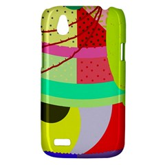 Colorful abstraction by Moma HTC Desire V (T328W) Hardshell Case