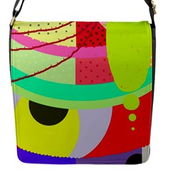 Colorful abstraction by Moma Flap Messenger Bag (S)