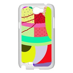 Colorful abstraction by Moma Samsung Galaxy Note 2 Case (White)