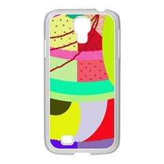 Colorful abstraction by Moma Samsung GALAXY S4 I9500/ I9505 Case (White)