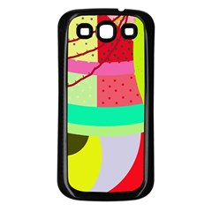 Colorful abstraction by Moma Samsung Galaxy S3 Back Case (Black)