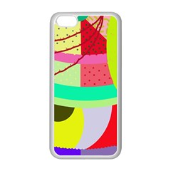 Colorful abstraction by Moma Apple iPhone 5C Seamless Case (White)