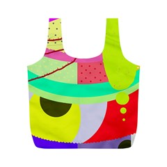 Colorful abstraction by Moma Full Print Recycle Bags (M)