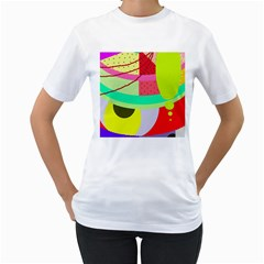 Colorful abstraction by Moma Women s T-Shirt (White)