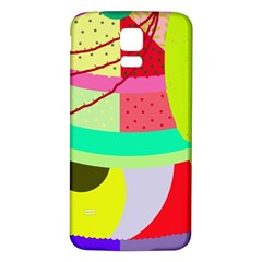 Colorful abstraction by Moma Samsung Galaxy S5 Back Case (White)