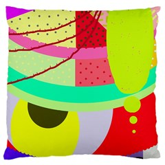Colorful abstraction by Moma Large Flano Cushion Case (One Side)