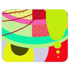 Colorful abstraction by Moma Double Sided Flano Blanket (Medium)