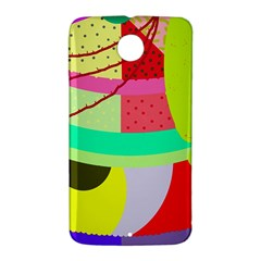 Colorful abstraction by Moma Nexus 6 Case (White)