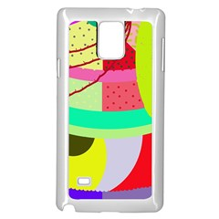 Colorful abstraction by Moma Samsung Galaxy Note 4 Case (White)