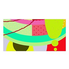 Colorful abstraction by Moma Satin Shawl