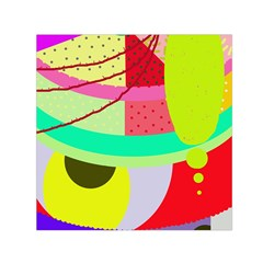 Colorful abstraction by Moma Small Satin Scarf (Square)