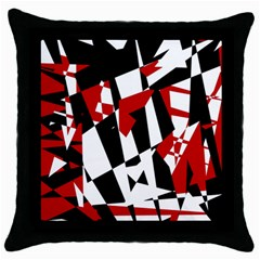 Red, black and white chaos Throw Pillow Case (Black)