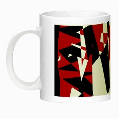 Red, black and white chaos Night Luminous Mugs