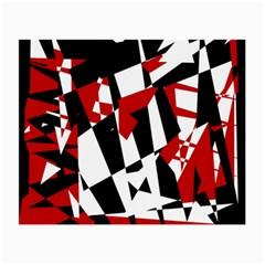 Red, black and white chaos Small Glasses Cloth