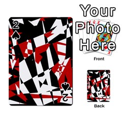 Red, black and white chaos Playing Cards 54 Designs