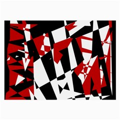 Red, black and white chaos Large Glasses Cloth