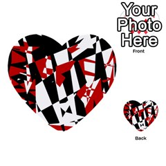 Red, black and white chaos Multi-purpose Cards (Heart)