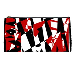 Red, black and white chaos Pencil Cases