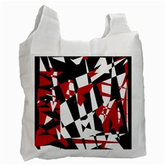 Red, black and white chaos Recycle Bag (One Side)