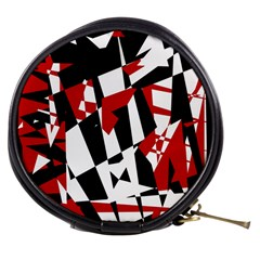 Red, black and white chaos Mini Makeup Bags