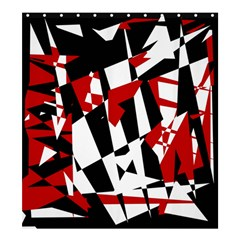 Red, black and white chaos Shower Curtain 66  x 72  (Large)