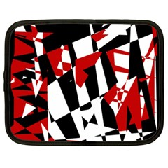 Red, black and white chaos Netbook Case (XXL)