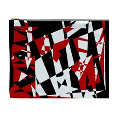 Red, black and white chaos Cosmetic Bag (XL)