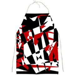 Red, black and white chaos Full Print Aprons