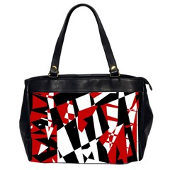 Red, black and white chaos Office Handbags (2 Sides)