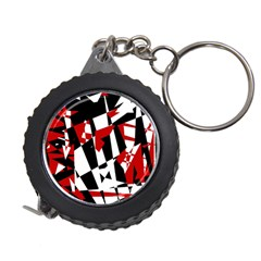 Red, black and white chaos Measuring Tapes