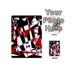 Red, black and white chaos Playing Cards 54 (Mini)