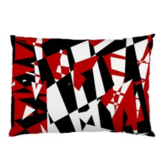 Red, black and white chaos Pillow Case (Two Sides)