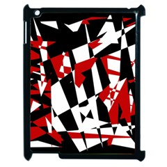 Red, black and white chaos Apple iPad 2 Case (Black)