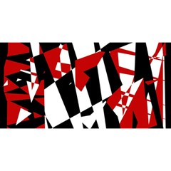 Red, Black And White Chaos You Are Invited 3d Greeting Card (8x4)