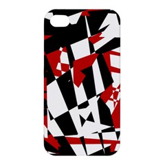 Red, black and white chaos Apple iPhone 4/4S Hardshell Case