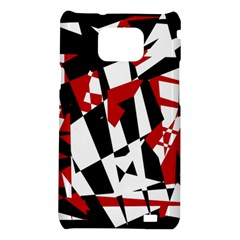 Red, black and white chaos Samsung Galaxy S2 i9100 Hardshell Case