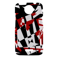 Red, black and white chaos HTC One X Hardshell Case