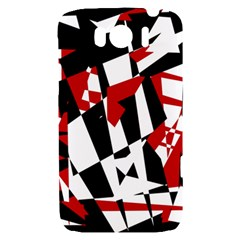 Red, black and white chaos HTC Sensation XL Hardshell Case
