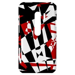 Red, black and white chaos HTC Evo 3D Hardshell Case
